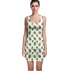 Leaves Motif Nature Pattern Sleeveless Bodycon Dress by dflcprintsclothing