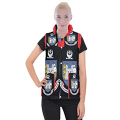 Flag Of Drogheda  Women s Button Up Puffer Vest by abbeyz71