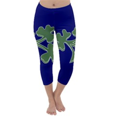 Flag Of Ireland Cricket Team Capri Winter Leggings  by abbeyz71