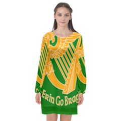 Erin Go Bragh Banner Long Sleeve Chiffon Shift Dress  by abbeyz71