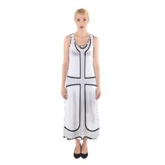 Anchored Cross  Sleeveless Maxi Dress by abbeyz71