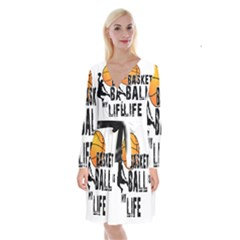 Basketball Is My Life Long Sleeve Velvet Front Wrap Dress by Valentinaart