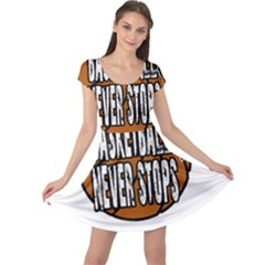 Basketball Never Stops Cap Sleeve Dresses by Valentinaart