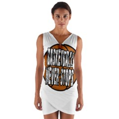 Basketball Never Stops Wrap Front Bodycon Dress by Valentinaart