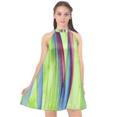 Artistic Pattern Halter Neckline Chiffon Dress  by Valentinaart