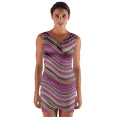 Pattern Wrap Front Bodycon Dress by Valentinaart