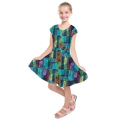 Abstract Square Wall Kids  Short Sleeve Dress by Costasonlineshop