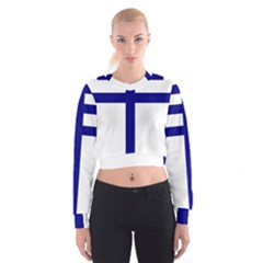 Papal Cross Cropped Sweatshirt by abbeyz71