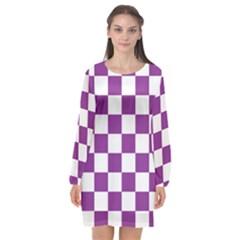 Pattern Long Sleeve Chiffon Shift Dress  by Valentinaart