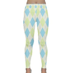 Plaid Pattern Classic Yoga Leggings by Valentinaart