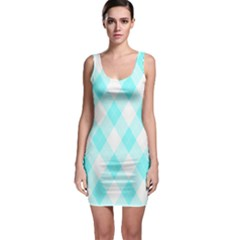 Plaid Pattern Sleeveless Bodycon Dress by Valentinaart