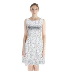 Plaid Pattern Sleeveless Waist Tie Chiffon Dress by Valentinaart