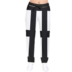 Cross Potent  Drawstring Pants