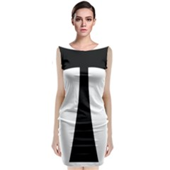 Tau Cross  Classic Sleeveless Midi Dress by abbeyz71