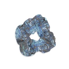 Angel Wings Blue Grunge Texture Velvet Scrunchie by CrypticFragmentsDesign