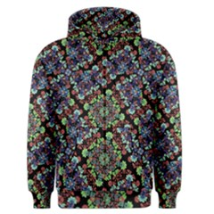 Colorful Floral Collage Pattern Men s Zipper Hoodie by dflcprintsclothing