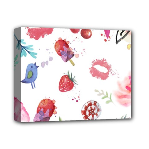 Hand Painted Summer Background  Deluxe Canvas 14  X 11  by TastefulDesigns