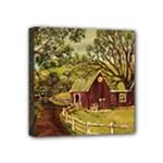 Old Red Barn By Ave Hurley - Mini Canvas 4  x 4  (Stretched)
