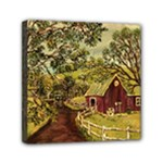 Old Red Barn By Ave Hurley - Mini Canvas 6  x 6  (Stretched)