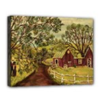 Old Red Barn By Ave Hurley - Canvas 14  x 11  (Stretched)