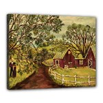 Old Red Barn By Ave Hurley - Canvas 20  x 16  (Stretched)