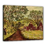 Old Red Barn By Ave Hurley - Canvas 24  x 20  (Stretched)