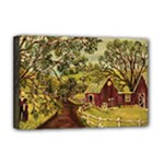 Old Red Barn By Ave Hurley - Deluxe Canvas 18  x 12  (Stretched)