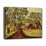 Old Red Barn By Ave Hurley - Deluxe Canvas 20  x 16  (Stretched)