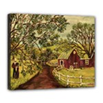 Old Red Barn By Ave Hurley - Deluxe Canvas 24  x 20  (Stretched) Clone