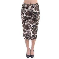Skull Pattern Midi Pencil Skirt by ValentinaDesign