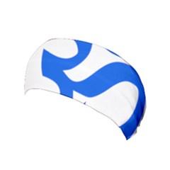 Hindu Om Symbol (blue) Yoga Headband by abbeyz71