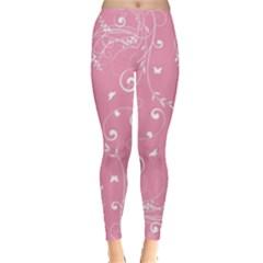 Floral Design Leggings  by ValentinaDesign