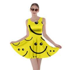 Linus Smileys Face Cute Yellow Skater Dress by Mariart