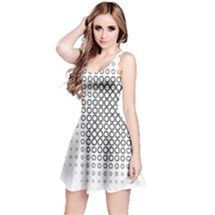 Polka Circle Round Black White Hole Reversible Sleeveless Dress by Mariart