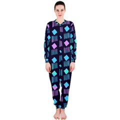 Polkadot Plaid Circle Line Pink Purple Blue Onepiece Jumpsuit (ladies)  by Mariart