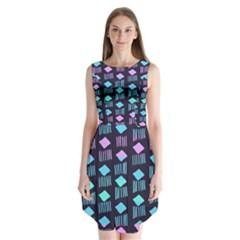 Polkadot Plaid Circle Line Pink Purple Blue Sleeveless Chiffon Dress   by Mariart