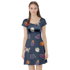 Kawaiieen Pattern Short Sleeve Skater Dress