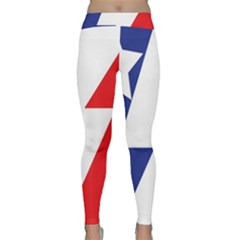 Three Colors Blue White Line Star Classic Yoga Leggings by Mariart