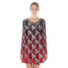 Netflix Play Button Pattern Long Sleeve Velvet V Neck Dress by Nexatart