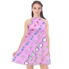 Chaffyyami Nurse Desktop Halter Neckline Chiffon Dress  by Nexatart