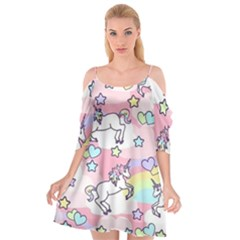 Unicorn Rainbow Cutout Spaghetti Strap Chiffon Dress by Nexatart