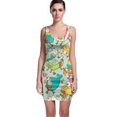 Summer Up Pattern Sleeveless Bodycon Dress by Nexatart