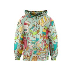 Summer Up Pattern Kids  Zipper Hoodie by Nexatart