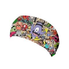 Hipster Wallpaper Pattern Yoga Headband by Nexatart