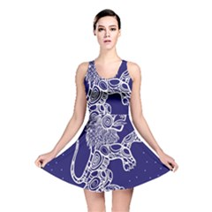 Leo Zodiac Star Reversible Skater Dress by Mariart