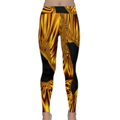 Hole Gold Black Space Classic Yoga Leggings by Mariart