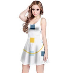 Plaid Arrow Yellow Blue Key Reversible Sleeveless Dress by Mariart