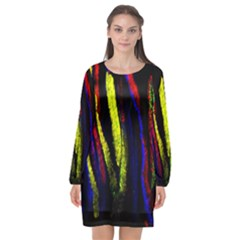 Multicolor Lineage Tracing Confetti Elegantly Illustrates Strength Combining Molecular Genetics Micr Long Sleeve Chiffon Shift Dress