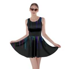 Rain Color Paint Rainbow Skater Dress by Mariart