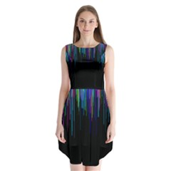 Rain Color Paint Rainbow Sleeveless Chiffon Dress   by Mariart